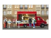 Busch 5421 Bäckereiwagen Bäckerwagen Verkaufswagen H0 Neu