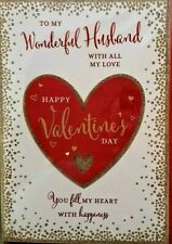 HUSBAND VALENTINE CARD ~ HEART DESIGN - LARGE SIZE QUALITY CARD LOVELY  VERSE