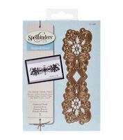 SPELLBINDERS SHAPEABILITIES  DIAMOND FLORAL DECORATIVE STRIP DIE SET - S4-496