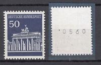 BRD 1966 Mi. Nr. 509 v R Postfrisch Rollmarke mit Nr. TOP!!! (20589)
