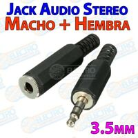 Lote Conector Jack Audio 3,5mm estéreo - MACHO + HEMBRA - 3.5mm - Electronica