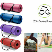 15mm Thick Yoga Mat Fitness Exercise Pilates Camping Gym Meditation Pad Non-Slip