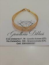 Bracciale donna in oro giallo 18 karati 750% maglia elastica