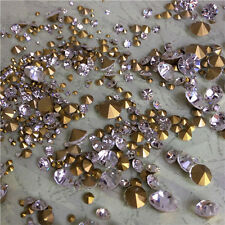 Mixed Sizes Point back Rhinestones Crystal Glass Nail Art Chatons 50g 720ps U2