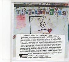 (DW961) Threatmantics, Upbeat Love - 2008 DJ CD