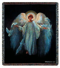 Messenger of Peace Angel Tapestry Afghan Throw