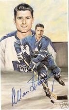 Allan Stanley Autographed Hockey Legends Card HOFer