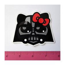 Skateboard Laptop Guitar PVC Clear Decal Sticker - Red Bow Black Kitty Darth