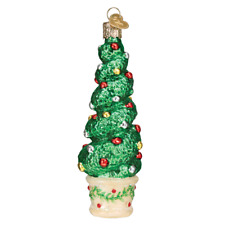 """Holiday Topiary"" (48040)X Old World Christmas Glass Ornament w/ OWC Box"