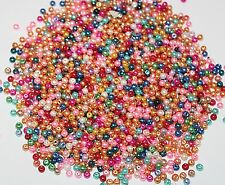 Wholesale 500PCS Mix Color Pearls 4mm Beads Assorted Beads Bulk Glass Beads