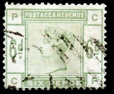 GB - 1883-84 : Queen Victoria 6p green, Scott# 105