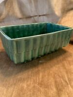 "Vintage California Glazed Pottery Mid Century Planter Dark Green CP 338 USA 8.5"""