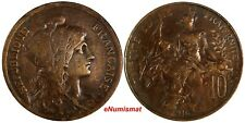 France Bronze 1916 10 Centimes 30mm KM# 843 (18 085)