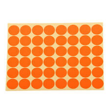 720Pcs Round 25mm Dots Stickers Circle Blank Label Tag Self Adhesive Orange