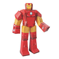 MARVEL AVENGERS IRON MAN PAPER CRAFT DIE CUT 12 INCH POSEABLE FIGURE~,NEW!