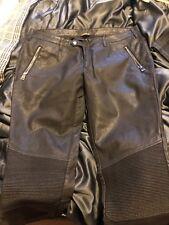 Black Tab By Zara Leather Look Biker Jeans. W32 In Black Balmain Biker
