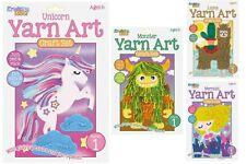 Childrens Craft Kit - Yarn Art - Kids Craft Set - 4 Different Designs
