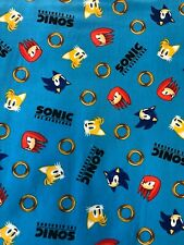 Sonic the Hedgehog Fabric - Characters & Gold Rings - by the fat eighth (9�x21�)
