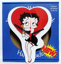 "Betty Boop Wooden Wall Clock - 12"" tall - NEW"
