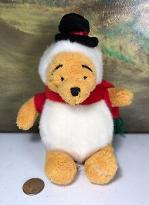 Disney Store Winnie the Pooh snowman snowball costume stuffed beanie plush 2002