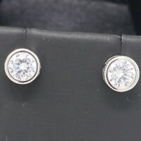 2 Ct Round Cut Moissanite Stud Earrings Women Wedding Engagement Jewelry Gift