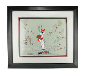 BASEBALL BUGS Bunny Friz Freleng Limited Edition Cel Art Signed Rare
