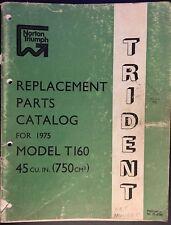 Triumph 1975 Trident Replacement Parts Catalogue
