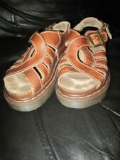 Dr. Martens Brown Leather Chunky Fisherman Weave Sandals women's US 4 UK 3