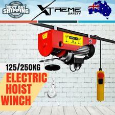 New 125/250KG 510W 240V 15M Rope Electric Hoist Winch Pro Lift Crane Power Tool