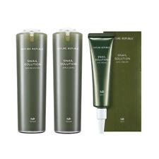 [NATURE REPUBLIC] Snail Solution Emulsion,Skin Booster, Eye Cream - 120ml / 30ml