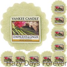10 YANKEE CANDLE WAX TARTS Lemongrass and Ginger  MELTS
