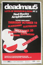 DEADMAU5 2017 Red Rocks - Colorado (2) Nights Concert Flyer 11x17 Gig Poster