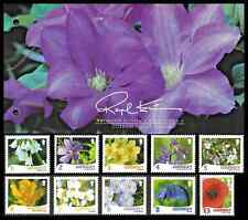 More details for guernsey 2009 raymond evison's wild flora set of 10 presentation pack + fdc