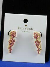 Kate Spade Gold Plated Light Pink Crystal Flower Crawler Earrings O0RU2764 $58