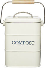 Kitchen Craft Cream Living Nostalgia Compost Waste Worktop Bin & Odour Filter
