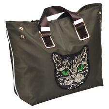 Fashion Women Large Travelling Work Tote bag shoulder bag Sequin Cat head