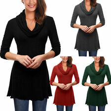 Unbranded Polyester Long Sleeve Solid Women's Tops & Blouses
