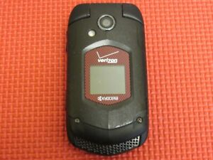 Kyocera DuraXV E4520 Verizon Wireless Black/Red 512MB Rugged Flip Cell Phone