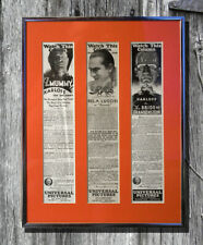 Vintage 1920's Movie Monster Ads Framed – Mummy, Dracula, Bride of Frankenstein