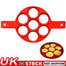 7 Round Shape Non-Stick Flipping Pancake Maker Silicone Omelette Mold Tool