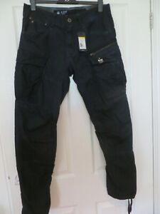 G STAR ROVIC ZIP 3D TAPERED BATTLE TWILL OD TROUSERS SIZE 33 X 32 NEW WITH TAG