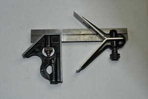 "Vintage ""Union Tool Co."" Combination Square Set (6"")"