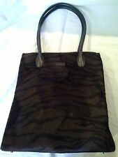 Lunch Bag or Shopping Tote Guess Tiger Stripe Faux Fur