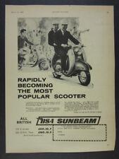 1961 BSA Sunbeam 250 Scooter vintage print Ad