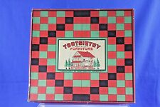 VINTAGE TOOTSIE TOY FURNITURE BOX ONLY CHECKERED BACKGROUND
