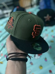 San Fransisco Giants 2tone 2014 World Champs New Era Fitted Cap 7 5/8 Grey UV