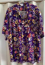 LOS ANGELES LAKERS Purple Multi 'LAKERS LEGACY' Hawaiian Shirt~XXL~Roomy Fit