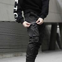 Fashion Hip Tactical Men Cargo Hop Street Joggers Pants Harem Black Trousers