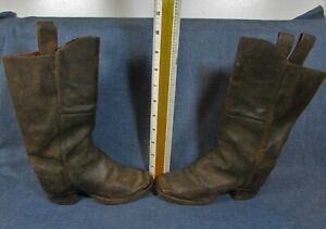 Antique BOY'S Leather BOOTS, Brass Toes, Circa 1850