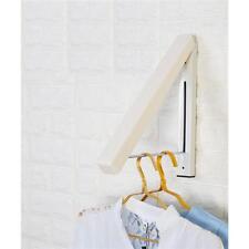 Fold Away Hanger Wall Mounted Clothes Hanging Rail Dryer Rack Hanger WO